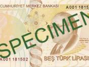 English: Reverse of 5 Turkish Lira Türkçe: 5 Türk Lirası'nın arka yüzü