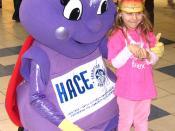 Millie, the Brampton Arts Council mascot