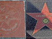 English: The two stars Celine Dion have on Walks of Fame. On the left is the one from Canada's Walk of Fame; on the right is the Hollywood Walk of Fame.