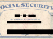 English: Scanned image of author's US Social Security card.