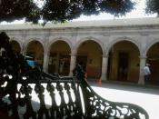 Español: Uriangato banquilla en el jardín de Uriangato