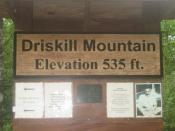 Elevation sign and registry on top of Driskill Mountain, highest point in Louisiana