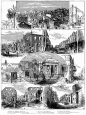 The aftermath of the 1882 Kingston fire.
