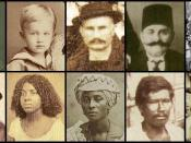 Brazilians from the end of the 19th century to the very begining of the 20th century. First roll from left to right: A Portuguese-Brazilian woman, a German-Brazilian boy, an Italo-Brazilian man, an Arab-Brazilian and a Japanese-Brazilian woman. Second rol