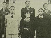 The 1930 Wiley College debate team. Wells is in the center of the front row. To her right is debate team coach Melvin B. Tolson.