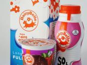 English: A picture of 3 dairy products produced by Dairy Belle, a subsidiary of Tiger Brands of South Africa.