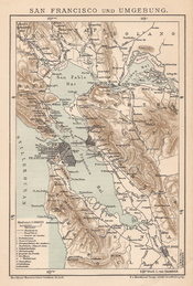 German map of San Francisco Bay Area