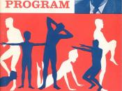 U.S. Physical Fitness Program Exercise Book´s Front Cover