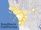 English: This map, created by the Regional Plan Association, illustrates the Southern California megaregion