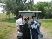 English: Golfing in Ontario golf course, Oregon.