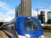 Israel Railway Siemens train in the Tel Aviv Central Train Station.