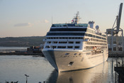 Azamara Journey closing in to dock