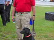Fire Marshal Pat Weaver and K-9 Joanie