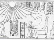 The royal family – Amenhotep III with Queen Tiye and Princess Beketaten. Amarna tomb of Huya.
