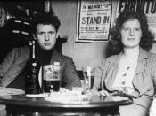 Welsh poet and playwright Dylan Thomas, with his wife Caitlin (nee Macnamara)