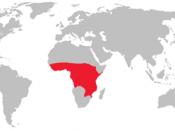 English: A distribution of the Tsetse fly.