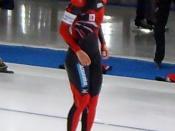 Sayuri Yoshii (JPN) before 1000 meters world cup speedskating race in Berlin, Germany. Deutsch: Sayuri Yoshii (JPN) vor dem Start, 1000 Meter-Weltcup in Berlin, Deutschland.