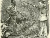 Discovery of Nat Turner: wood engraving illustrating Benjamin Phipps's capture of Nat Turner (1800-1831) on October 30, 1831