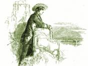 English: Illustration of Paul Flemming, the main character of the novel Hyperion by American writer Henry Wadsworth Longfellow. Engraving on wood. From a London edition, 1853.