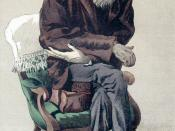 English: Caricature of Charles Darwin from Vanity Fair magazine. Caption read