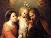 English: Holy Family, Mary, Joseph, and child Jesus