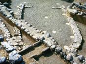 English: absidial building from the geometric period at Eretria