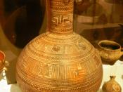 English: Greek vase from the geometric period in the National Archaeological Museum of Athens.