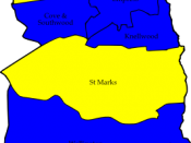 English: A map of the results of the 2006 Rushmoor Council election. Colour legend by wards won: Liberal Democrats Conservative party Labour party