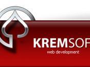 English: Kremsoft Web Design - Corporate Logo