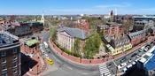 English: Harvard University Harvard Yard Harvard Square 2010, as seen from Holyoke