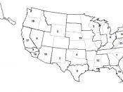 English: Map of 21 DEA field divisions: 1. Atlanta, 2. Boston, 3. Chicago, 4. Dallas, 5. Denver, 6. Detroit, 7. El Paso, 8. Houston, 9. Los Angeles, 10. Miami, 11. Newark, 12. New Orleans, 13. New York, 14. Philadelphia, 15. Phoenix, 16. San Diego, 17. Sa