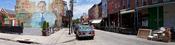 English: The historic Italian Market in Philadelphia (PA), United States of America. The resolution of the original photograph is 12000*2975. Nederlands: De historische Italiaanse Markt in Philadelphia (PA), Verenigde Staten. De resolutie van de oorspronk