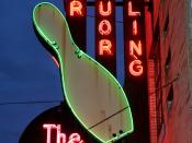 The Clique Bowling Alley neon sign IMG_7496