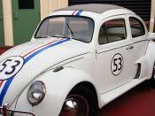 English: Herbie the Love Bug (2005 version from '), on a back lot at ().