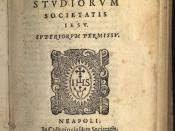 The first published edition of this classic of Jesuit humanist pedagogy, Naples, 1598