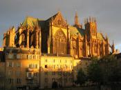 Saint-Stephen cathedral in Metz, capital of Lorraine region.