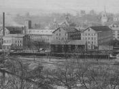 Goodyear Metallic Rubber Shoe Company & Downtown Naugatuck (c. 1890)