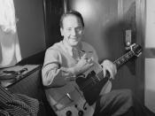 English: Les Paul, ca. January 1947 (Photograph by William P. Gottlieb) Les Paul Electric Guitar