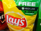 Xbox Live Gold Free Trial with Doritos Purchase Floor Display