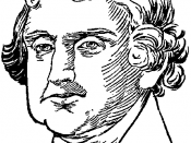 Portrait drawing of the head of the 3rd president of the United States, Thomas Jefferson