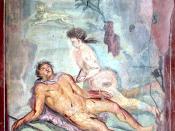 English: Pyramus and Thisbe, House of Loreius Tiburtinus, Pompeii.