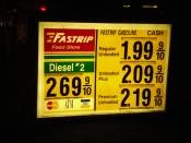 On November 17, gas prices had dropped to $1.99 in Bakersfield, California, due to falling Oil prices