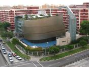 The church building of City Harvest Church, Singapore, photographed from Block 837, Jurong West Street 81, Singapore 640837.
