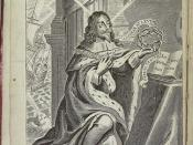 Ownership inscription of Anna Sophia Dormer (d. 1695) above an engraving of King Charles I of England (1600-1649)