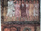 Samuel anoints David, Dura Europos, Syria, Date: 3rd c. AD
