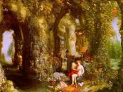 Jan Brueghel the Elder, A Fantastic cave with Odysseus and Calypso
