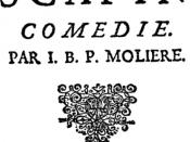 Front page of Les Fourberies de Scapin by Molière (1622-1673)