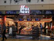 English: Fox News stand at Minneapolis-Saint Paul International Airport