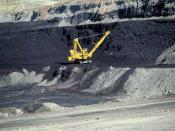 A coal mine in Wyoming, United States. The United States has the world's largest coal reserves.