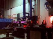 continuous wave 50,000 watt carbon dioxide electric discharge coaxial laser http://www.de.afrl.af.mil/factsheets/letf.pdf. Original caption: